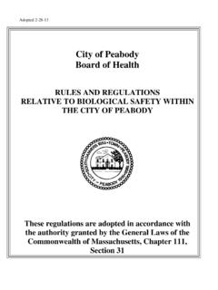 City of Peabody Board of Health