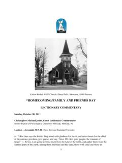 *HOMECOMING/FAMILY AND FRIENDS DAY - The …