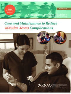 Care and Maintenance to Reduce Vascular …