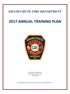2017 ANNUAL TRAINING PLAN - Grand Chute, Wisconsin