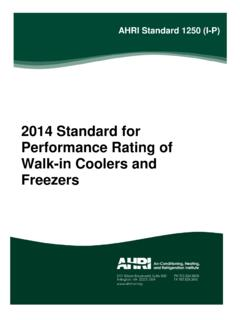 2014 Standard for Performance Rating of Walk-in …