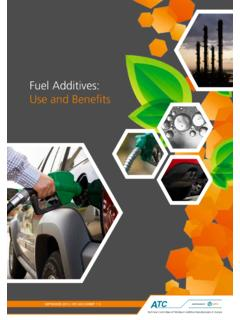 Fuel Additives: Use and Benefits - ATC EUROPE LIMITED