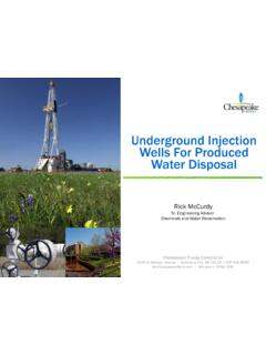 Underground Injection Wells for Produced Water Disposal