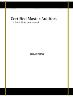 Certified Master Auditors