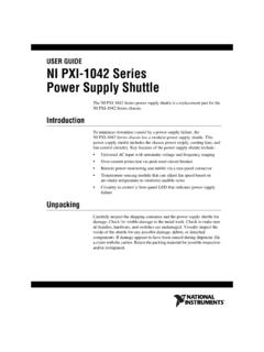 NI PXI-1042 Series Power Supply Shuttle