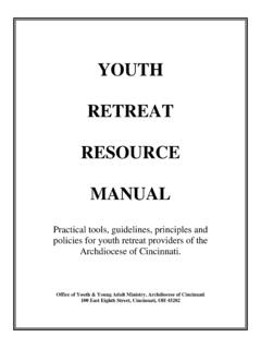 YOUTH RETREAT RESOURCE MANUAL - …