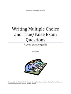 Writing Multiple Choice and True/False Exam Questions