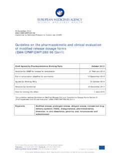 Guideline on the pharmacokinetic and clinical evaluation 4 ...