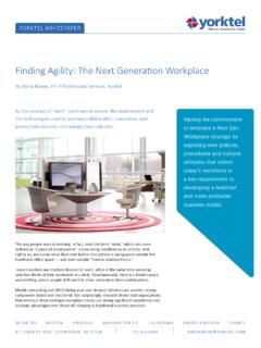 Finding Agility: The Next Generation Workplace - Yorktel