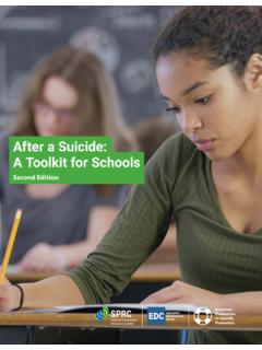 After a Suicide: A Toolkit for Schools 2nd Edition