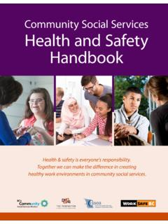Community Social Services Health and Safety Handbook
