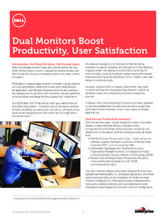 Dual Monitors Boost Productivity, User Satisfaction