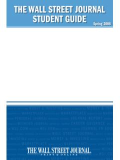 The Wall STreeT Journal STudenT Guide