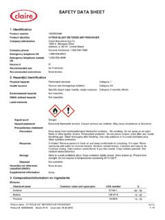 SAFETY DATA SHEET - The Claire Manufacturing Company