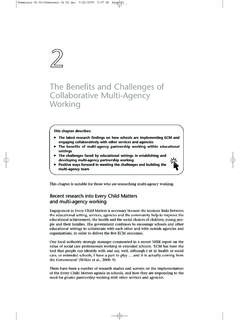 The Benefits and Challenges of Collaborative Multi-Agency ...