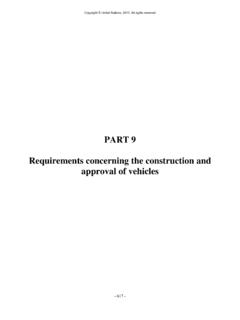 PART 9 Requirements concerning the construction …