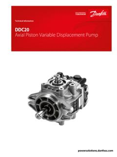 DDC20 Axial Piston Variable Displacement Pump Technical ...