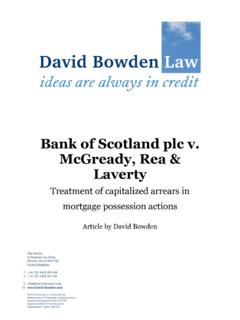 Bank of Scotland plc v. McGready, Rea & Laverty