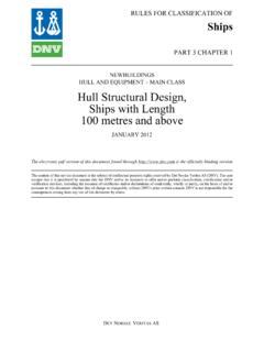 DNV Ship rules Pt.3 Ch.1 - Hull Structural Design, Ships ...