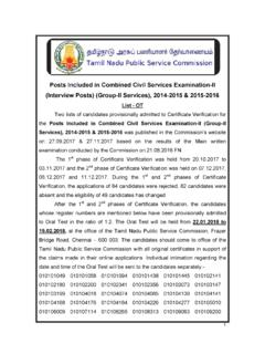 Posts Included in Combined Civil Services …