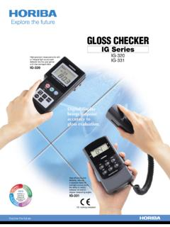 GLOSS CHECKER - Horiba