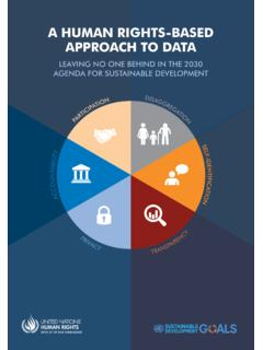 A HUMAN RIGHTS-BASED APPROACH TO DATA - OHCHR