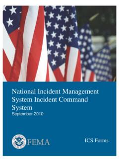 National Incident Management System Incident Command …