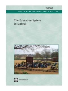 The Education System in Malawi - World Bank