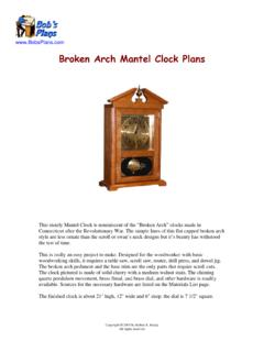 Broken Arch Mantel Clock Plans - BobsPlans.com