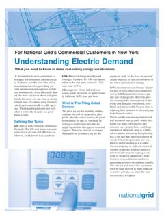 Understanding Electric Demand - National Grid