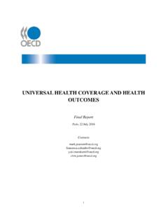 UNIVERSAL HEALTH COVERAGE AND HEALTH OUTCOMES …