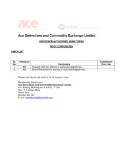 Ace Derivatives and Commodity Exchange Limited - India