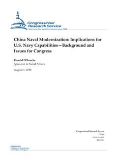 China Naval Modernization: Implications for U.S. Navy ...