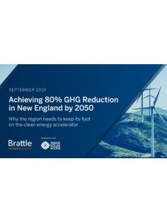 Achieving 80 Percent GHG Reduction in New England by 2050