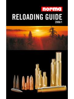 Reloading guide - Home - NORMA Smokeless Powders …