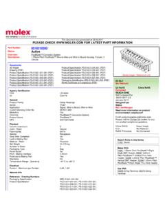PLEASE CHECK WWW.MOLEX.COM FOR LATEST …