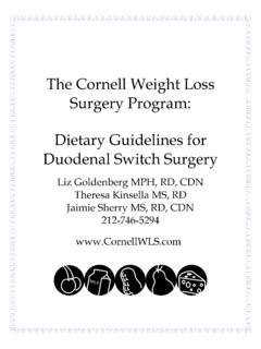 DIETARY GUIDELINES FOR GASTRIC BYPASS …