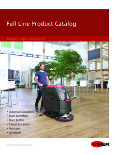 Full Line Product Catalog - Viper Cleaning Equipment