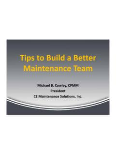 Tips to Build a Better Maintenance Team
