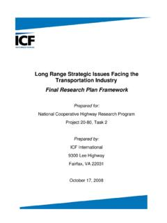Long Range Strategic Issues Facing the Transportation Industry