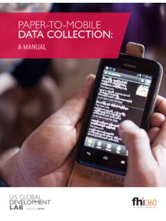 paper-to-mobile data collection - FHI 360