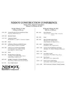 NDDOT CONSTRUCTION CONFERENCE