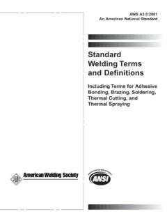 Standard Welding Terms and Definitions - AWS Bookstore