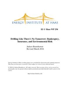 Drilling Like There's No Tomorrow: Bankruptcy, …