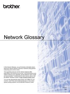 Network Glossary - download.brother.com