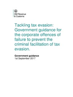 Tackling tax evasion: Government guidance for the ...