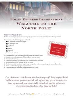 Polar Express Decorations Welcome to the North Pole!