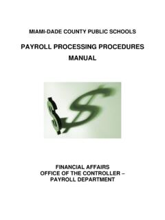 PAYROLL PROCESSING PROCEDURES MANUAL