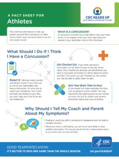 A Fact Sheet for Athletes - Centers for Disease Control ...