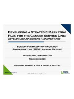 Developing a Strategic Marketing Plan for the Cancer ...